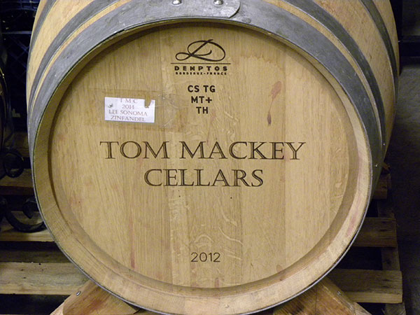 Tom Mackey Cellars Barrel